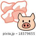 豚小間 豚 豚肉のイラスト 18379655