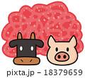 牛豚合挽き肉 18379659
