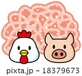 鶏豚合挽き肉 18379673