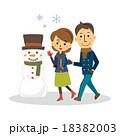 雪だるまと人物【三頭身・シリーズ】 18382003