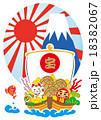新年 宝舟 富士山のイラスト 18382067