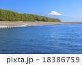 三保の松原からの駿河湾と富士山 18386759