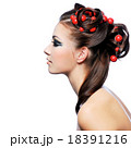 Profile of creativity hairstyle and fashion make-up 18391216