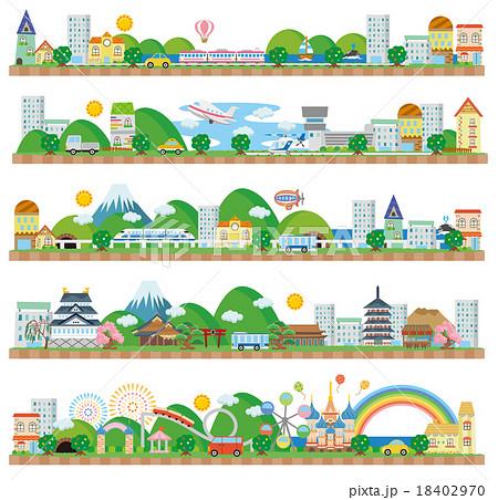 町並み(海辺 飛行場 新幹線 日本 遊園地) 18402970