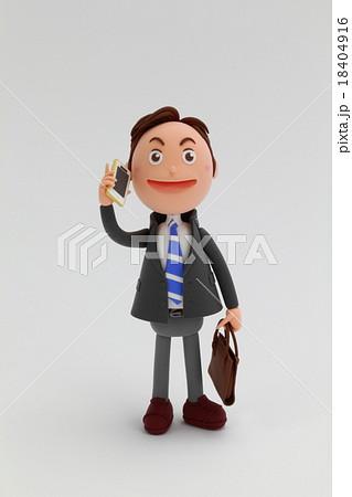 粘土人形ビジネスマン男性 18404916