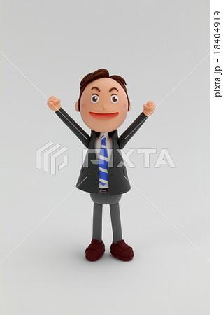 粘土人形ビジネスマン男性 18404919
