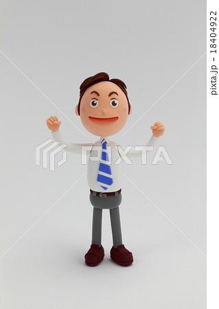 粘土人形ビジネスマン男性 18404922