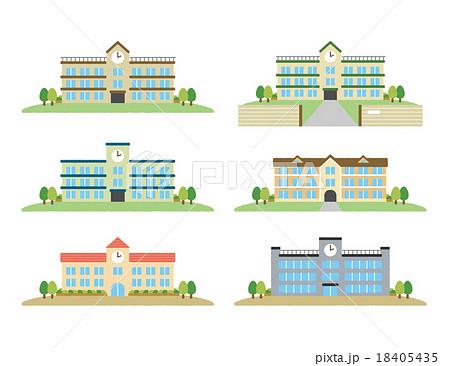 校舎のイラスト素材 18405435 Pixta