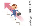 学生 男子 階段のイラスト 18413128