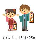子供 七五三 千歳飴のイラスト 18414250