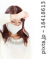 マスクをした女性 18418613