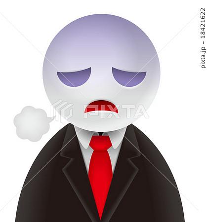 ストレスがたまった男性イラストA 18421622