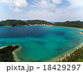 空撮 海 座間味島の写真 18429297