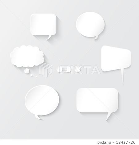 White Speech Bubbles Setのイラスト素材 [18437726] - PIXTA