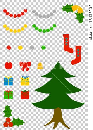 クリスマス素材セット 18438532