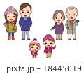 家族 冬 冬服のイラスト 18445019