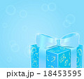 Shiny Blue Gift Box with Bow 18453595