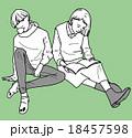 女の子たち、読書の秋 18457598