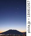 桜島の夜明け。金星、木星、火星、水星② 18461567