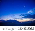 桜島の夜明け。金星、木星、火星 18461568