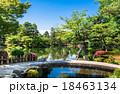 金沢 兼六園 徽軫灯籠と霞ヶ池 18463134