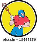 Lacrosse Player Crosse Stick Running Circle 18465859