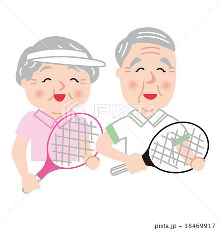 シニア テニス アクティブ 健康 笑顔 18469917