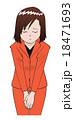 お辞儀・謝罪するスーツ姿の女性 18471693