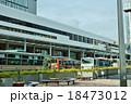 東京の駅・JR吉祥寺駅北口駅前ロータリーと駅舎・東方向から横位置 18473012