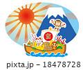 新春 宝舟と申と富士山 18478728