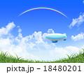 草原に浮かぶ飛行船 18480201
