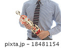 優勝カップをもつビジネスマン 18481154