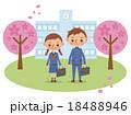 入学式・卒業式イメージ(中学生・高校生男女2人) 18488946