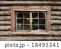 Log house cabin windows 18493341