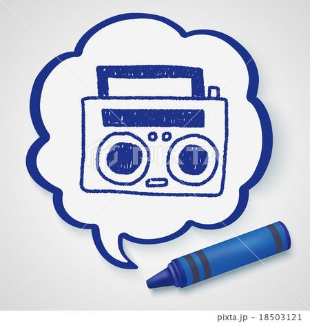 radio player doodle drawingのイラスト素材 [18503121] - PIXTA
