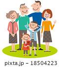3世代6人スマート家族05 18504223