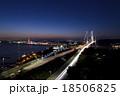 関門橋 関門海峡 夜景の写真 18506825