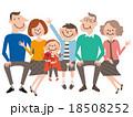 3世代6人スマート家族06 18508252