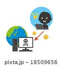 サイバー攻撃 18509656