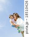 公園で母親に抱かれる息子 18510426