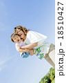 公園で母親に抱かれる息子 18510427