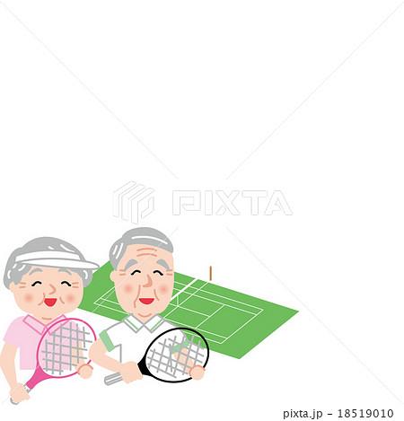 シニア テニス アクティブ 健康 笑顔 18519010
