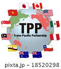 TPP(環太平洋パートナーシップ協定)イメージイラスト 18520298