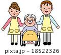 シニア 女性 笑顔 介護 リハビリ 快適 車椅子 18522326