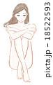 女性 体育座り 悩みのイラスト 18522593