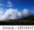 青空と白い雲の高原(高ボッチ高原) 18524424