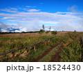 青空と白い雲の高原(高ボッチ高原) 18524430