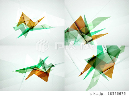 Set of angle and straight lines design abstractのイラスト素材 [18526676] - PIXTA