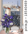 open window on the roofs of Paris 18540469