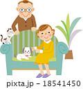 シニア夫婦とペット 18541450
